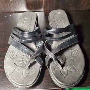 B.O.C Leather Black Sandles Size 8